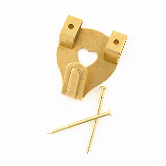 Double Brass Wall Hooks
